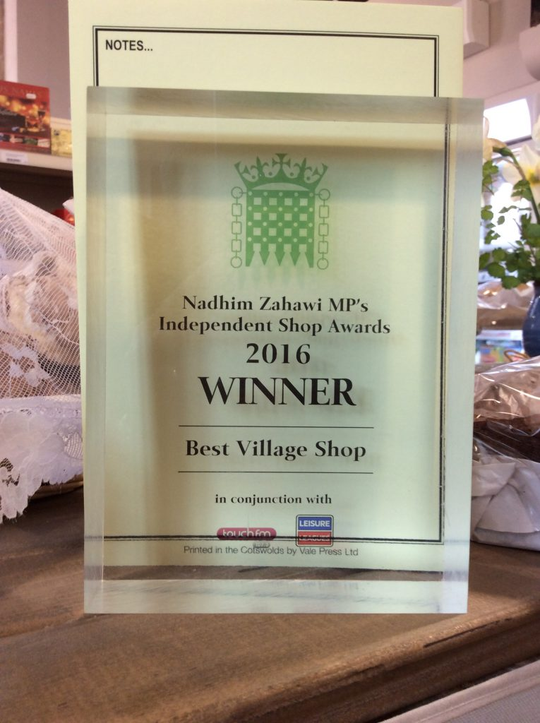 Award for best village shop